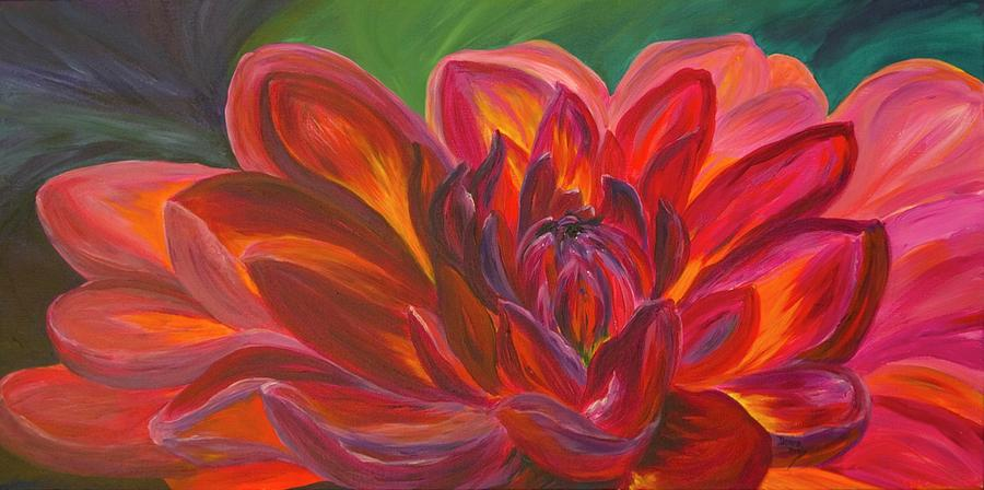 Floral Painting - Dahlia by Donna Drake