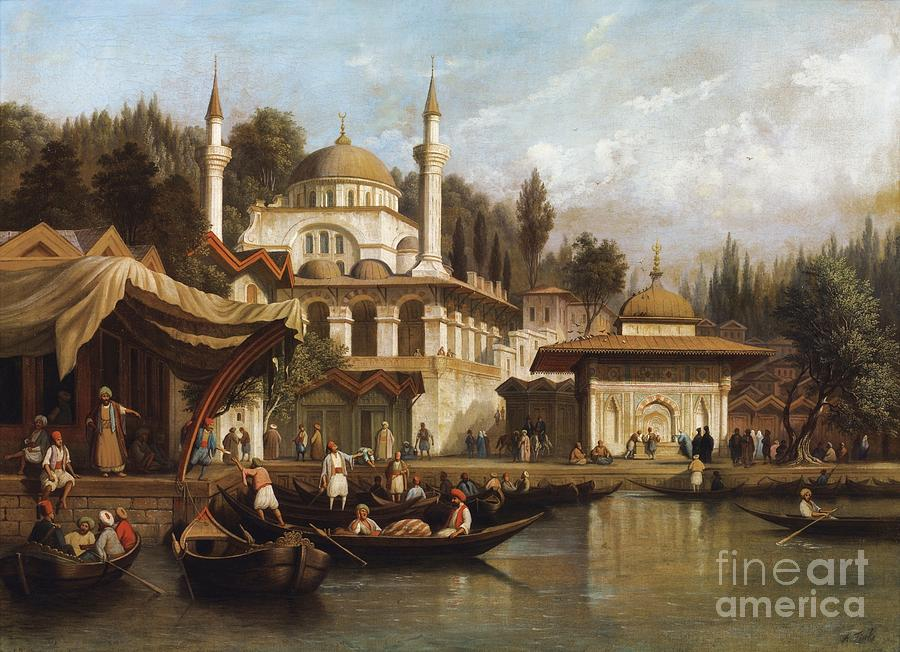 Ottoman Empire Paintings Daily Life In Istanbul...