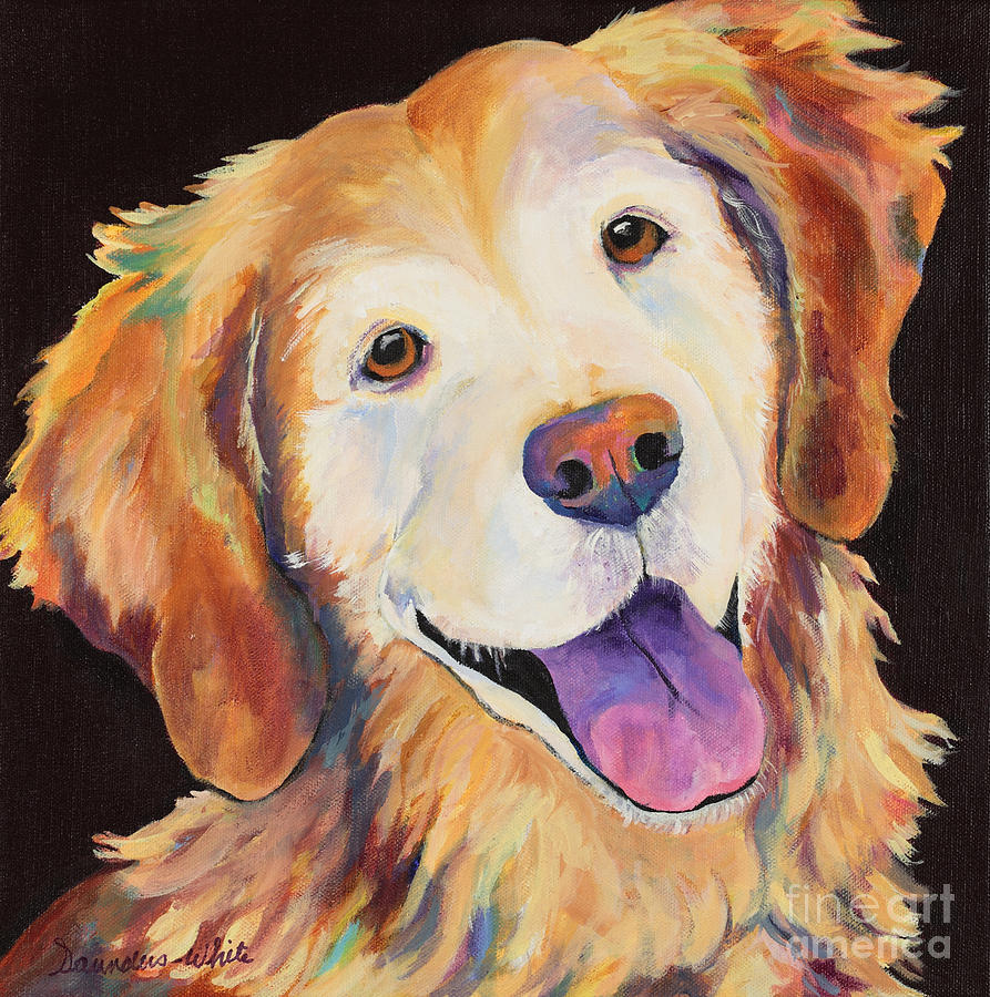 Pet Portraits Painting - Daisy by Pat Saunders-White