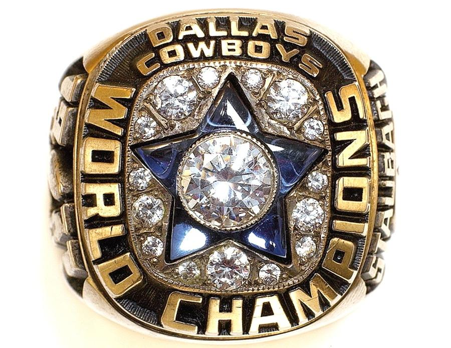 Dallas Cowboys Digital Art - Dallas Cowboys First Super Bowl Ring by Paul Van Scott