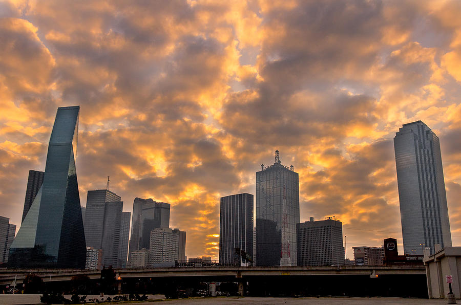 Urban Photograph - Dallas Skyline by Drew Castelhano