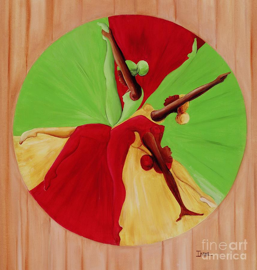 Dancing Painting - Dance Circle by Ikahl Beckford