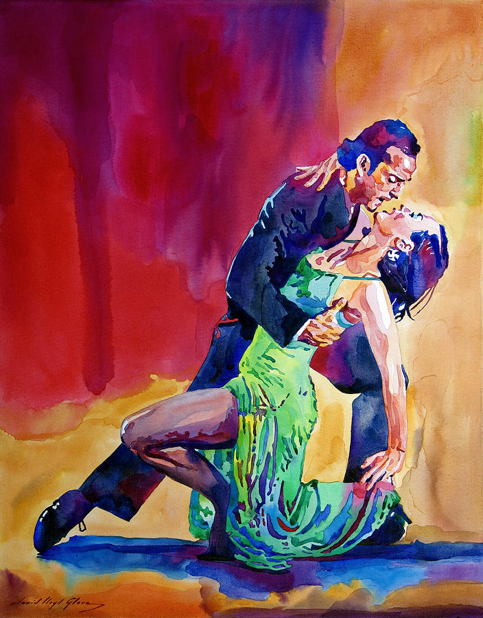 Dance Painting - Dance Intense by David Lloyd Glover