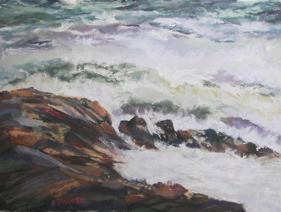 Wave Study Painting - Dance Of The Rising Tide by Alicia Drakiotes