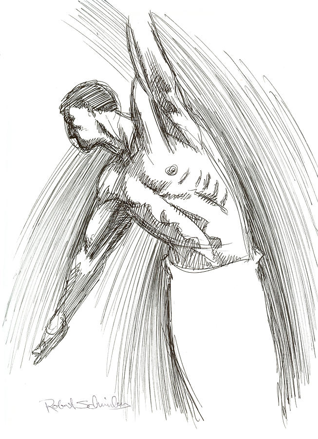 Male Drawing - Dance by Robert Schnieders