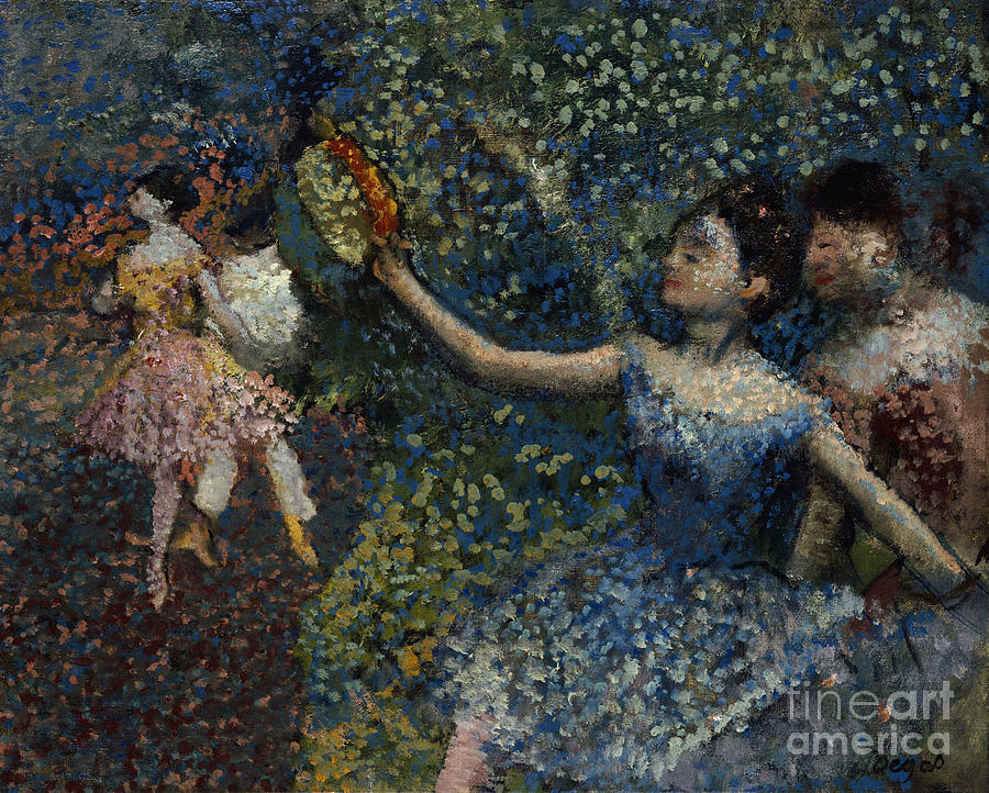 Edgar Degas Painting - Dancer With A Tambourine by Edgar Degas