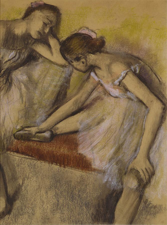 Dancers Painting - Dancers In Repose by Edgar Degas