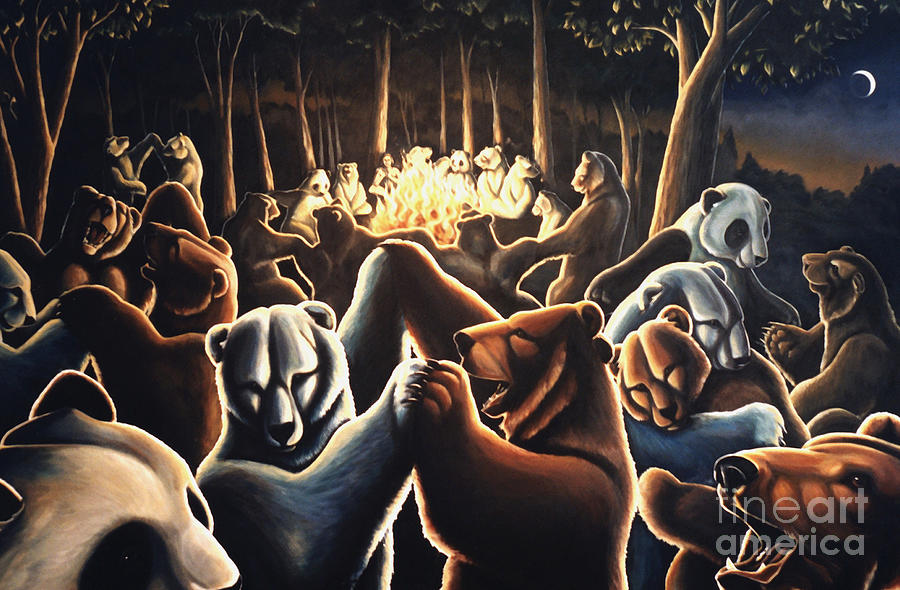 Dancing Bears Painting Painting By Kim Hunter