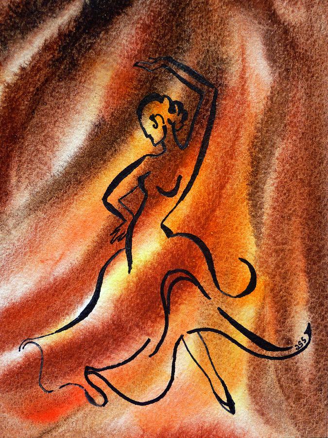 Abstract Design Painting - Dancing Fire IIi by Irina Sztukowski