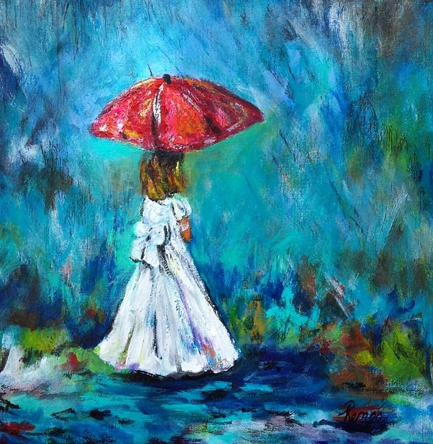 dancing in the rain 3 painting by renee vandevere. Black Bedroom Furniture Sets. Home Design Ideas