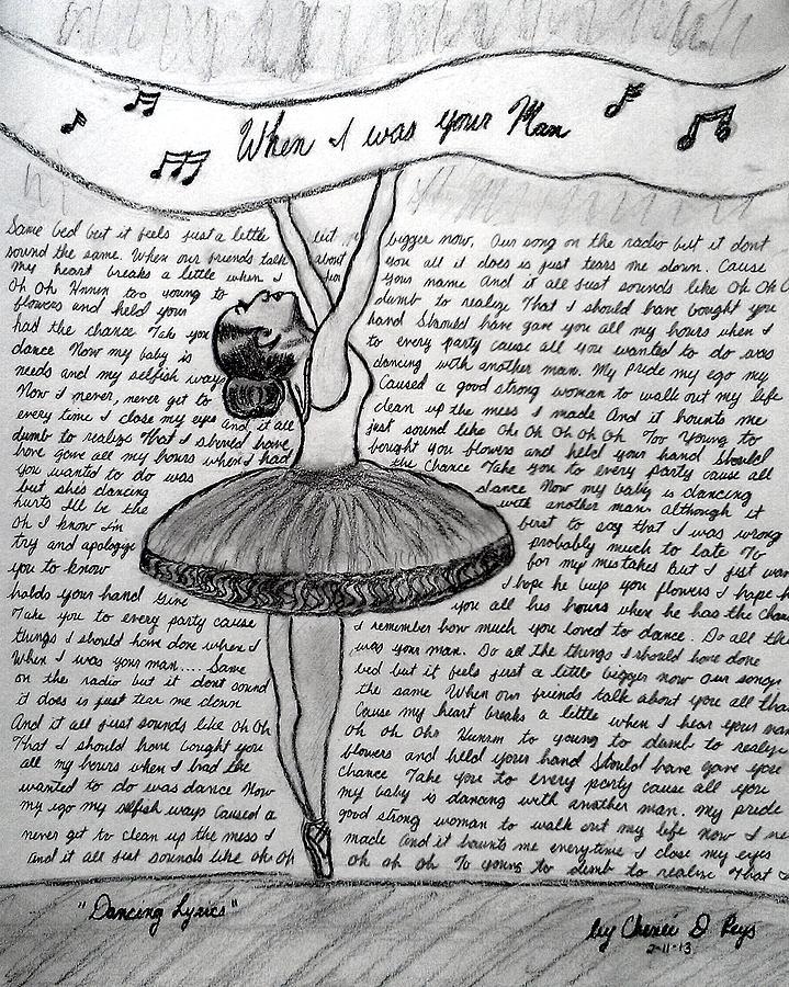 Dancing Lyrics Drawing