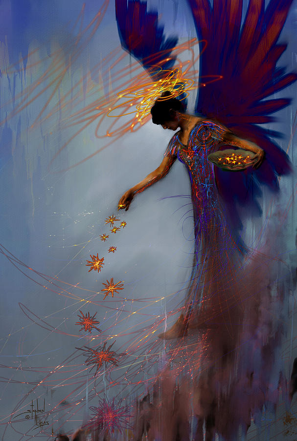 Angel. Spiritual Digital Art - Dancing The Lifes Web Star Gifter Does by Stephen Lucas