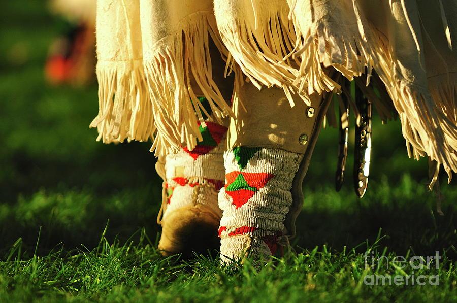 Native Photograph - Dancing To The Drum by Susana Bonadea