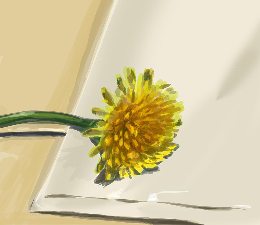 Dandelion Digital Art - Dandelion by Jamie Lindenmeier
