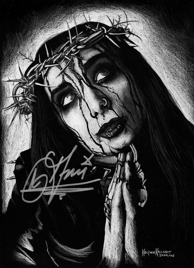 Dani Filth Portrait Of Cradle Of Filth by Kalynn Kallweit