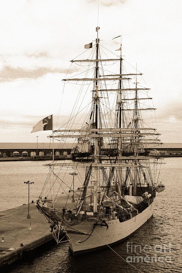 Barque Photograph - Danish Training Ship by Gaspar Avila