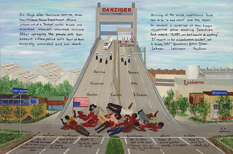 Danziger The Massacre Painting