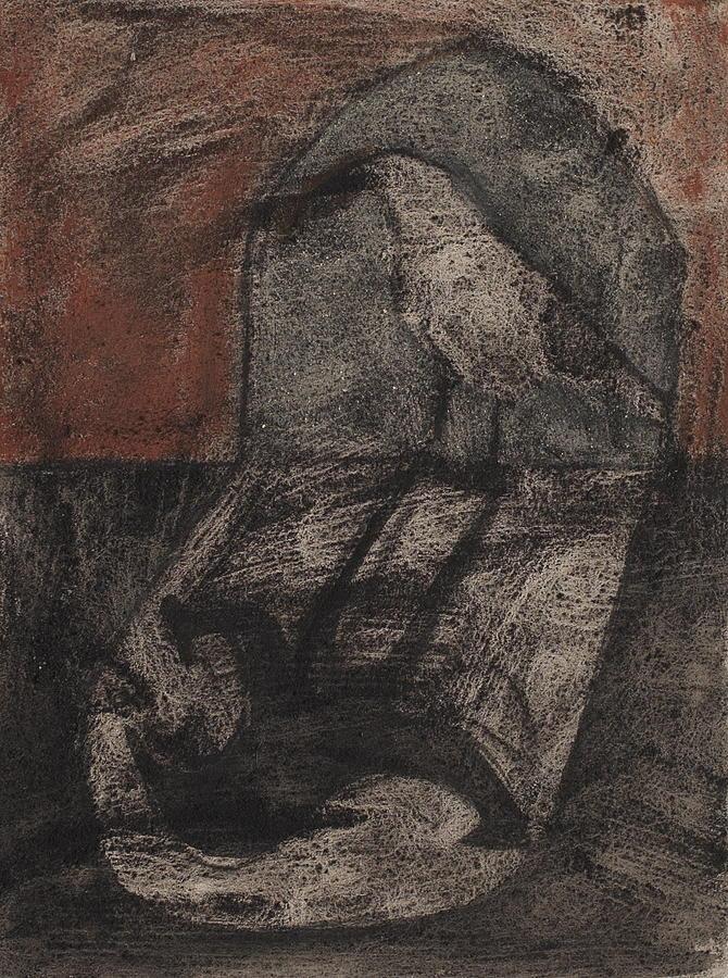 Dark Crow In The Doorway Painting by Sophy White