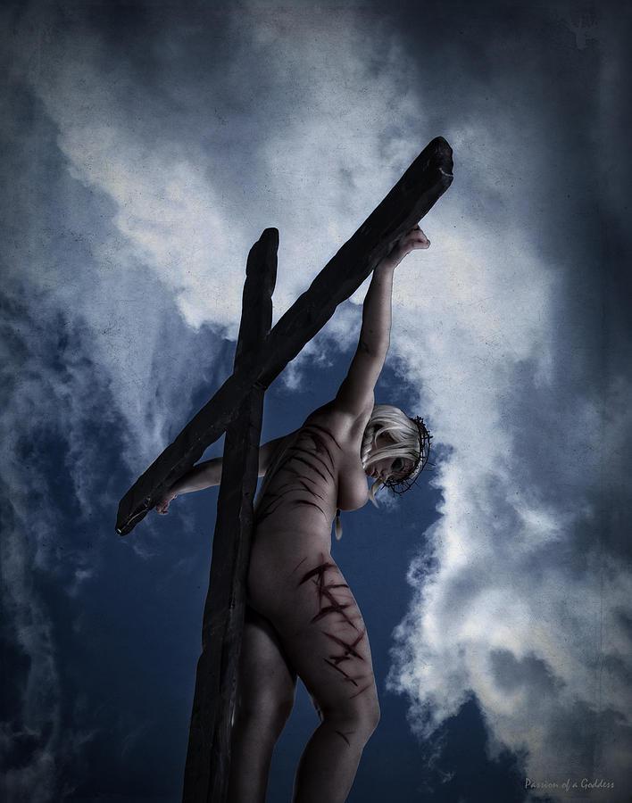 Perfect female crucifixion roman said
