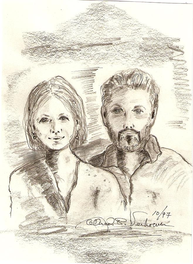 Portrait Drawing Emotion Berlin Restoration  Drawing - Das Berliner by Alfred P  Verhoeven