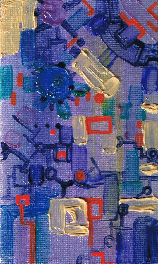 Machine Painting - Dashpotted Dilemma by Regina Valluzzi