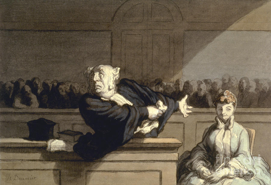 1860 Photograph - Daumier: Advocate, 1860 by Granger