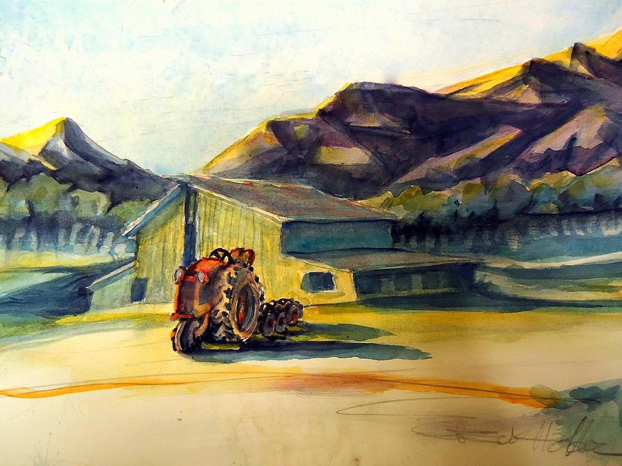 Dawn Along Hiway 33 Painting