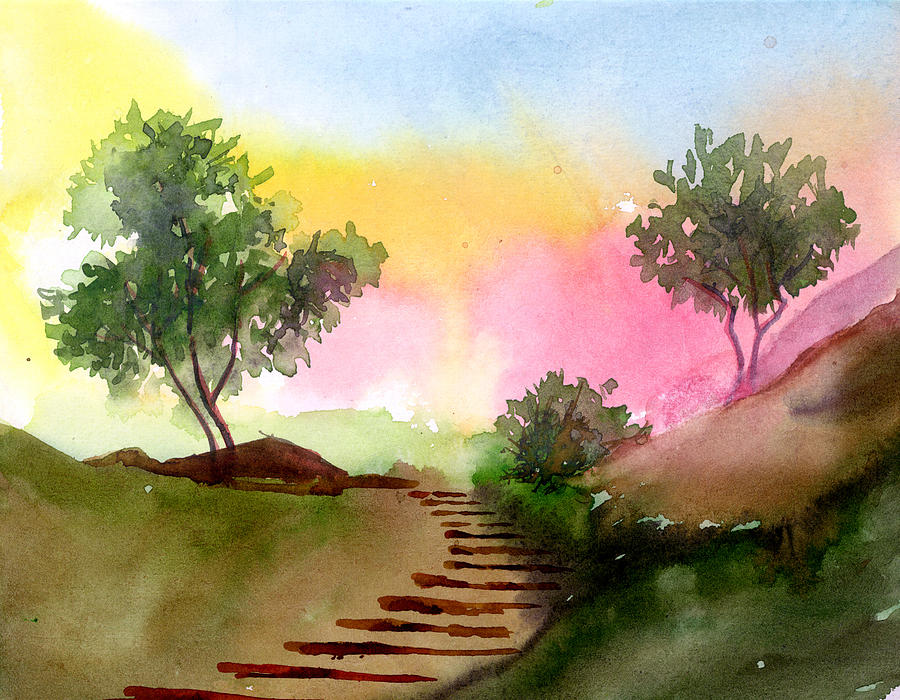 Landscape Painting - Dawn by Anil Nene