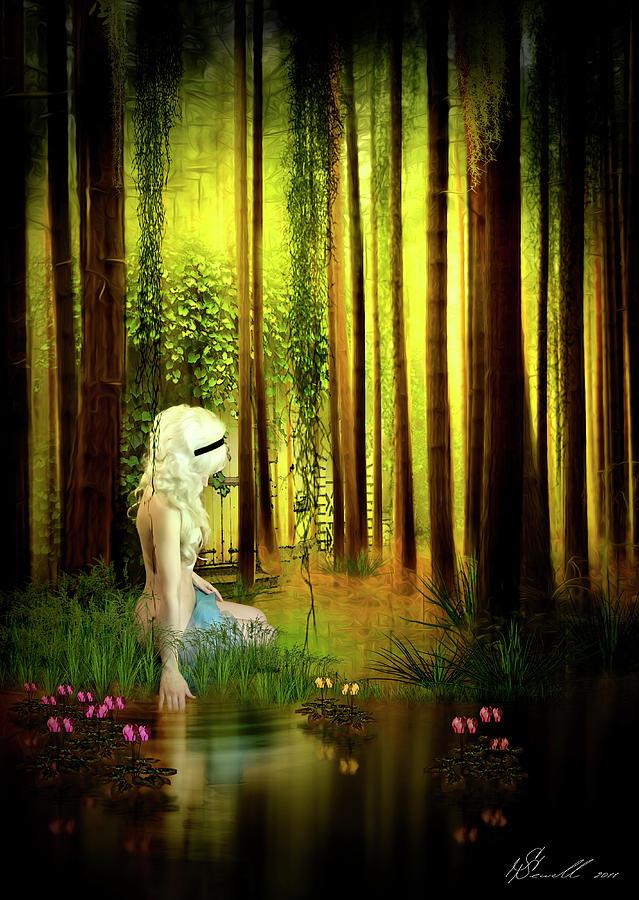 Forest Digital Art - Dawn Refresh by Svetlana Sewell