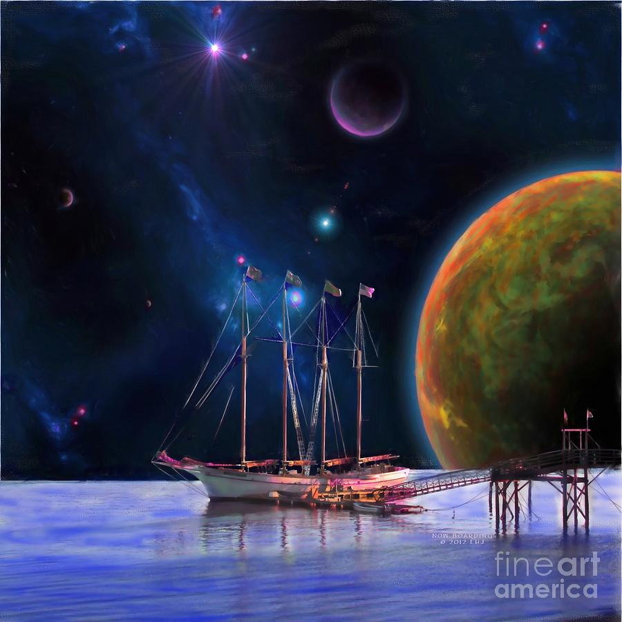 C.s.lewis Painting - Dawn Treader Is Now Boarding by Earl Jackson