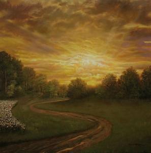 Landscape Painting - Day Break by Jerrie Glasper