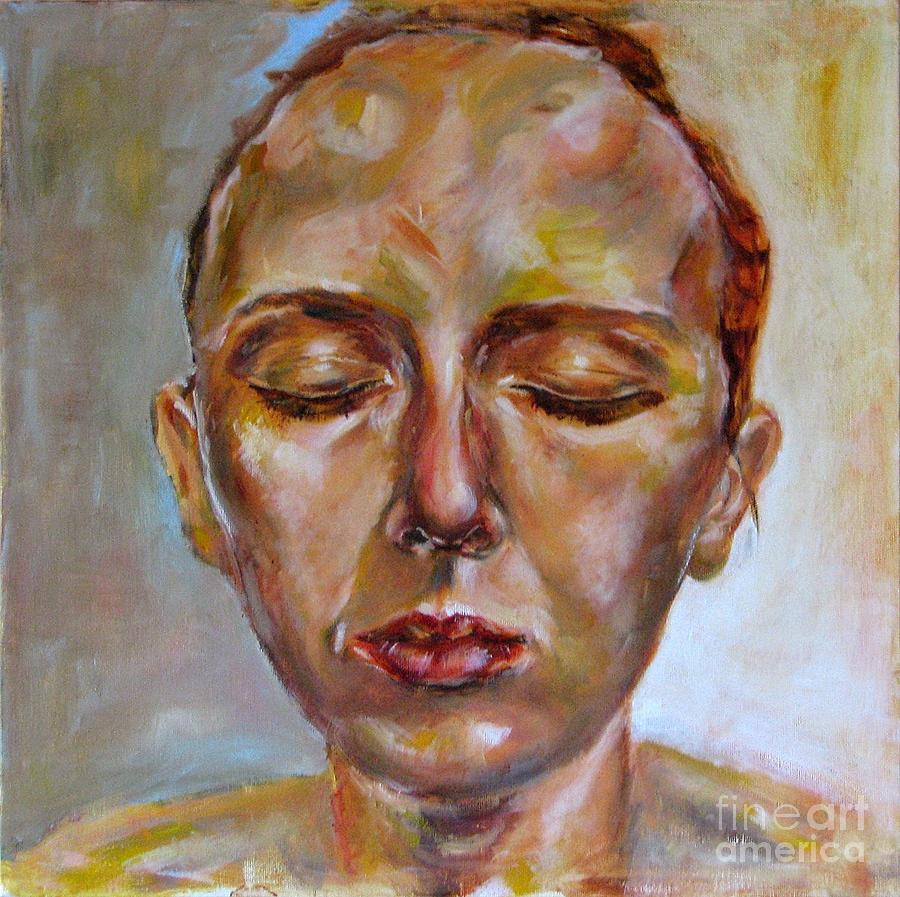 Portrait Painting - Daydreaming by Iglika Milcheva-Godfrey