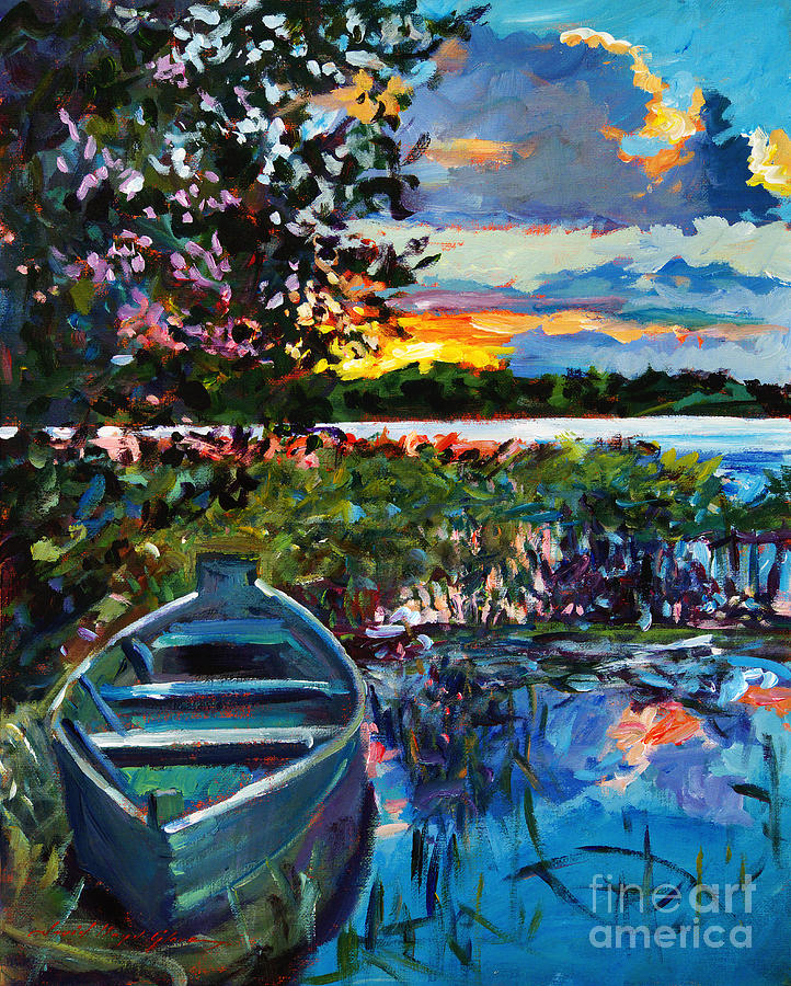 Landscape Painting - Days End by David Lloyd Glover