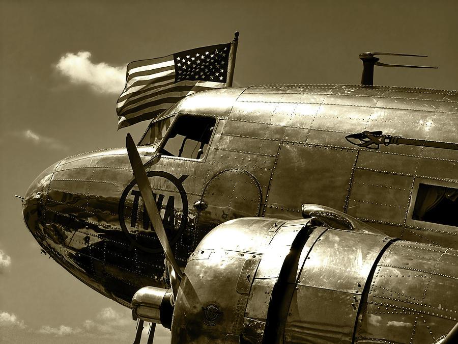 Airplane Photograph - Dc3 Twa by Lamyl Hammoudi