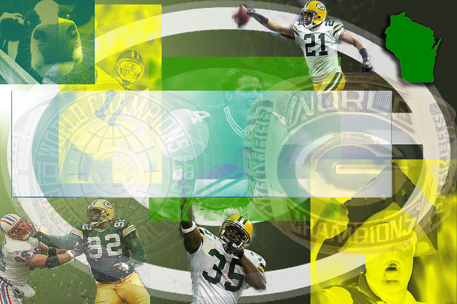 Green Bay Packers Digital Art - de Wine and Cheese by Jimi Bush
