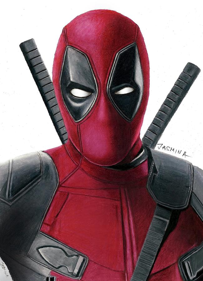 Deadpool Drawing Drawing by Jasmina SusakDeadpool Sketch