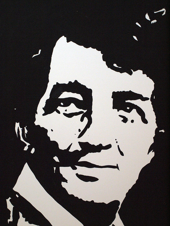 The Rat Pack Drawing - Dean Martin Loving Life by Robert Margetts