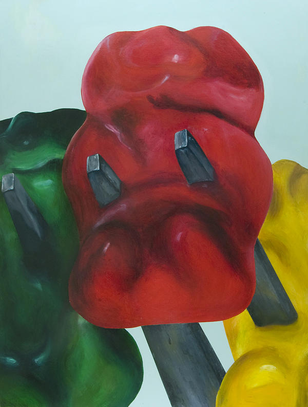 Death Of A Gummy Bear I Painting