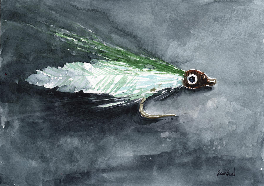 Fishing Painting - Deceiver Fishing Fly by Sean Seal