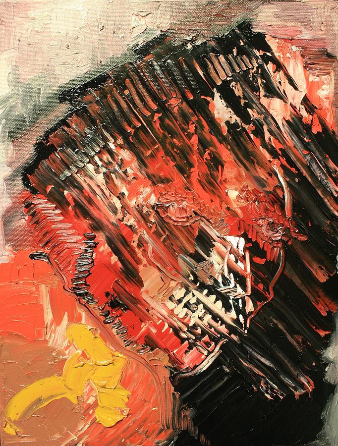 Michael Kulick Painting - Declaration Of War Self Portrait by Michael Kulick
