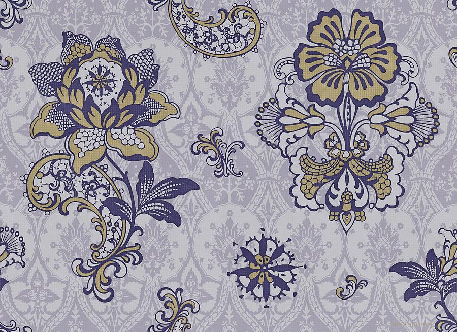 Deco Flower Blue Painting