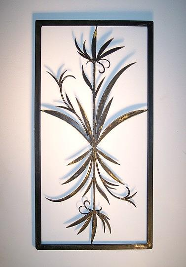 Michaels Metal Wall Decor : Decorative iron panel sculpture by michael hill