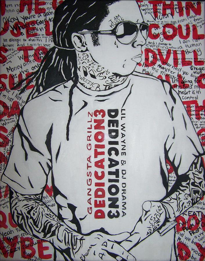 Lil Wayne Painting - Dedication 3 by Morgan Baudoin