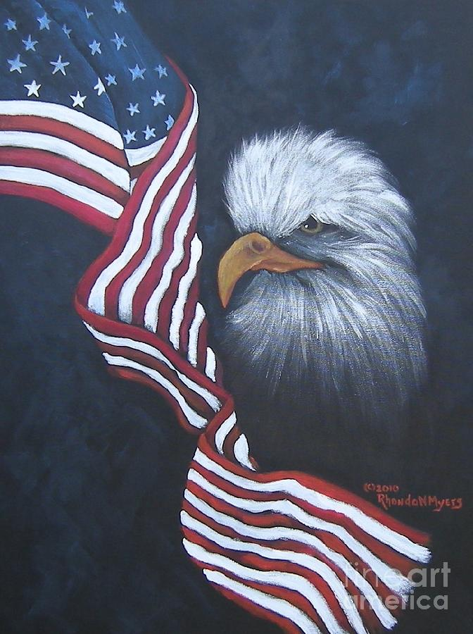 Veterans Painting - Dedicted To Those Who Serve by Rhonda Myers