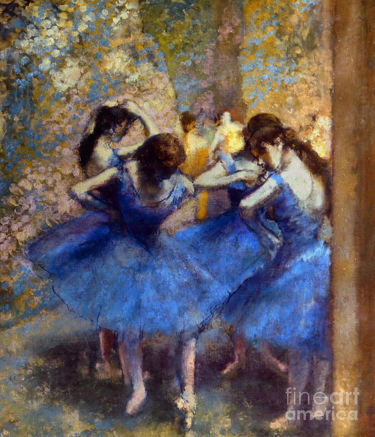 1890 Photograph - Degas: Blue Dancers, C1890 by Granger