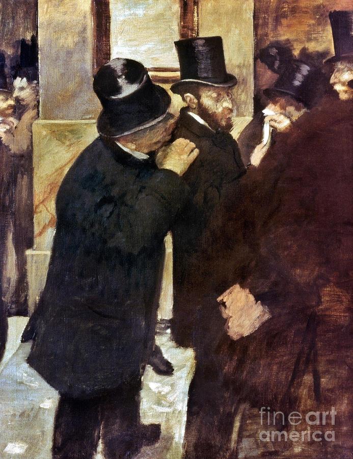 1878 Photograph - Degas: Stock Exchange by Granger