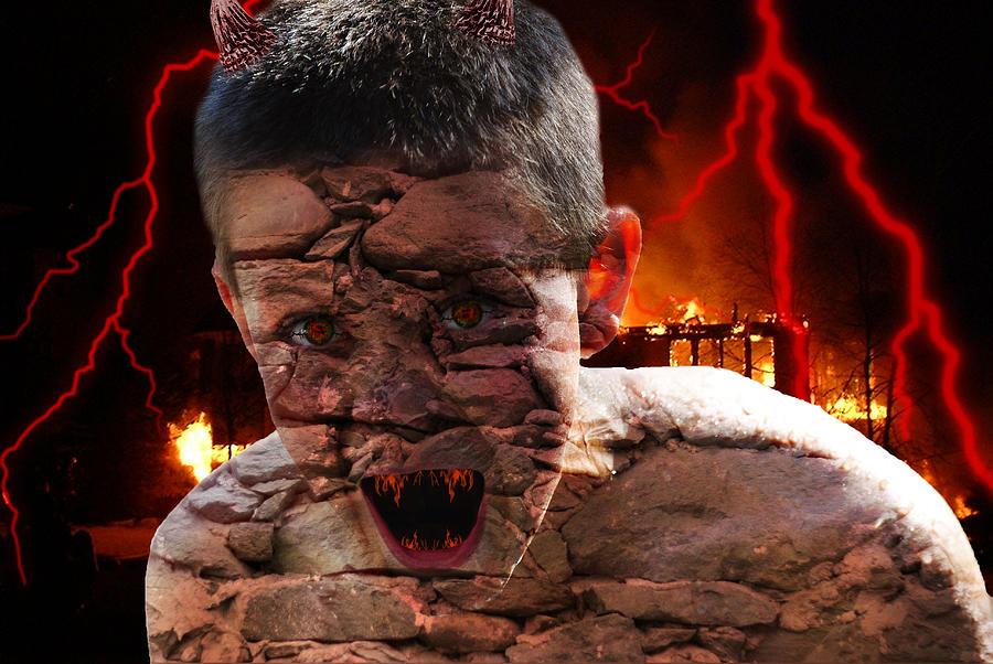 Demon Photograph - Demonic by Bransen Devey