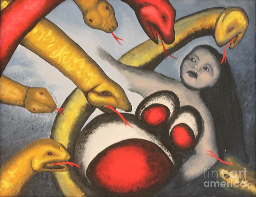 Demons Painting - Demons by Terri Thompson