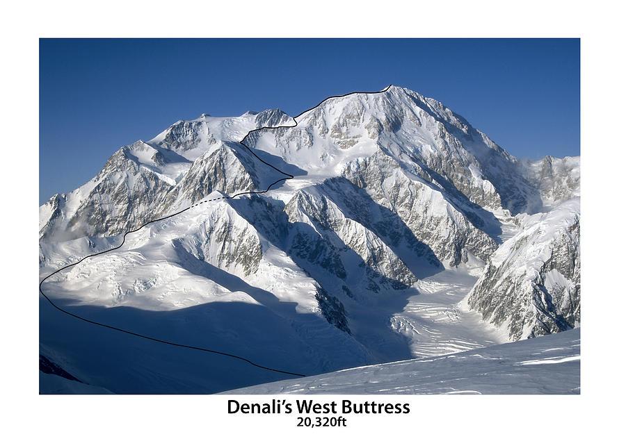 Denali Photograph - Denali West Buttress by Alasdair Turner