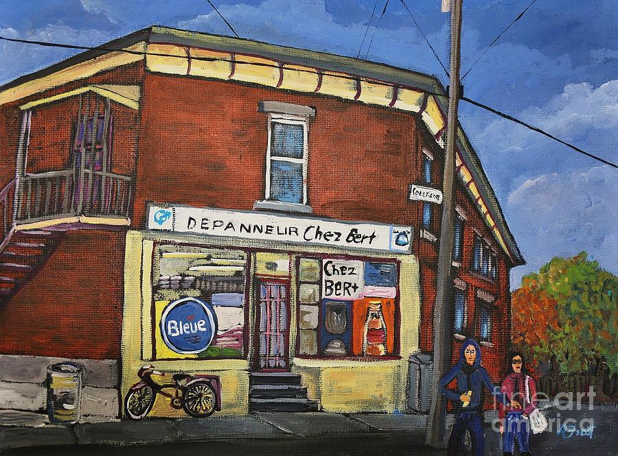 Depanneur Chez Bert Montreal Painting